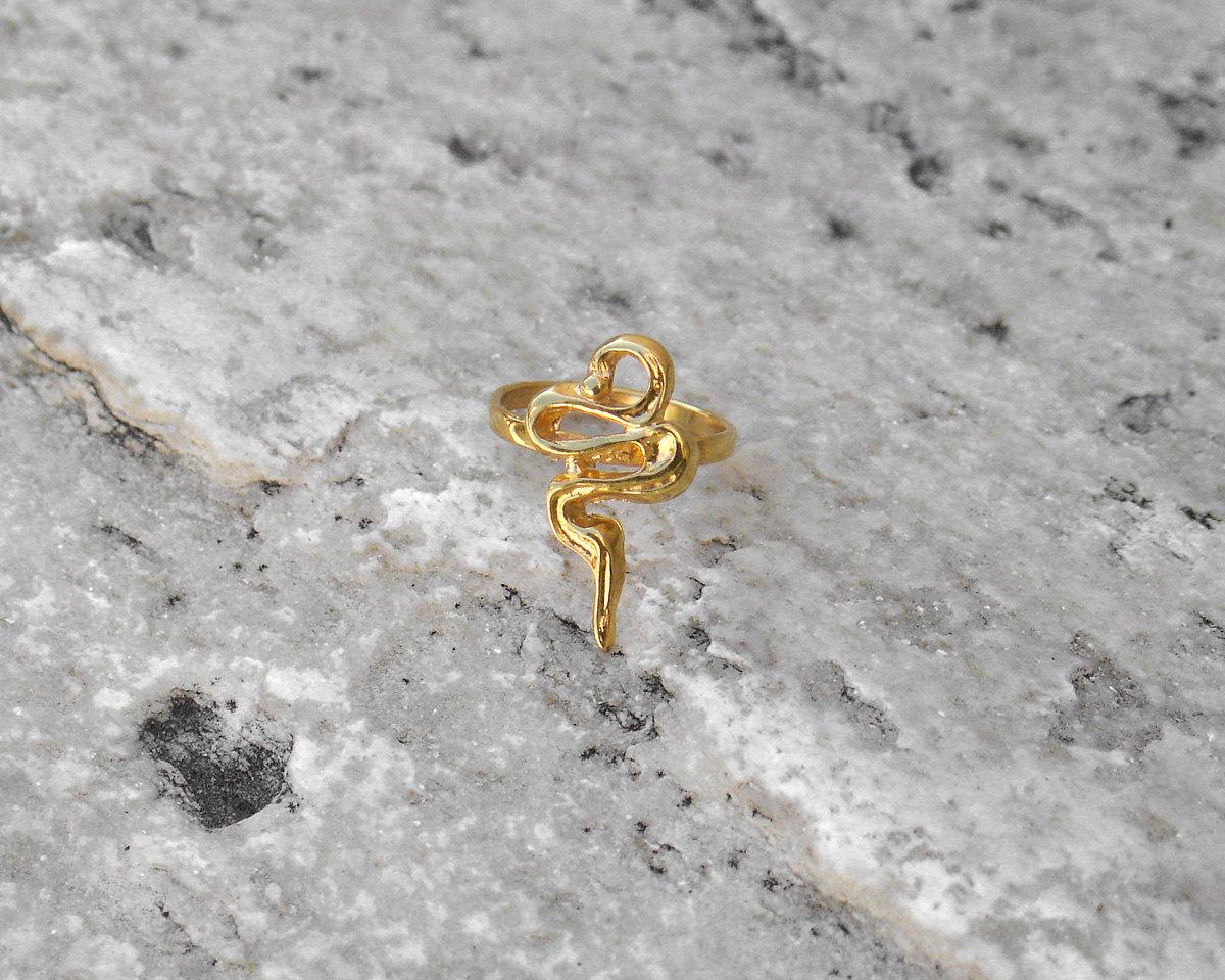 Gold Snake Ring Design