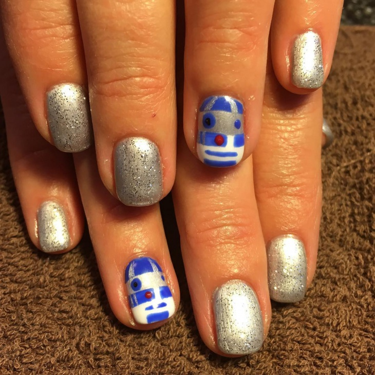 star wars gel nail design