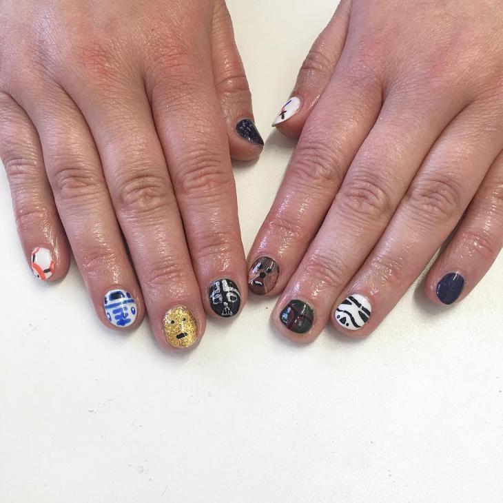 star wars nail art for short nails