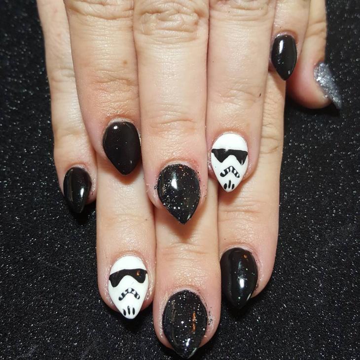 star wars stormtrooper nail art