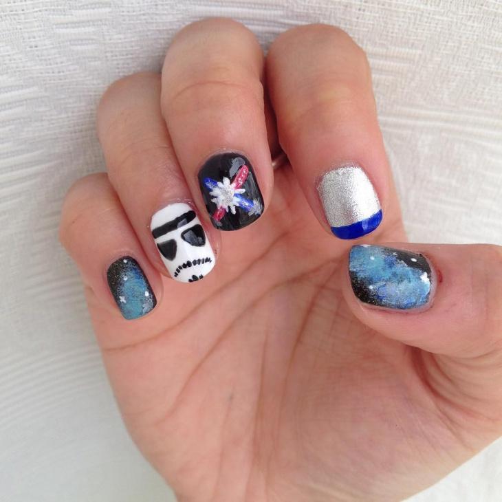 cool star wars nail art