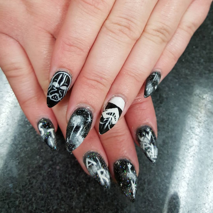 Star Wars Nail Art for Long Nails - 21+ Star Wars Nail Art Designs, Ideas Design Trends - Premium PSD