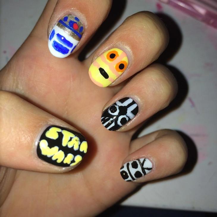 star wars nail manicure idea