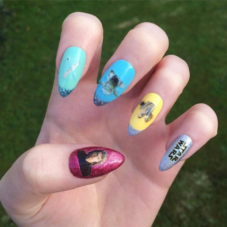 trendy star wars nail art