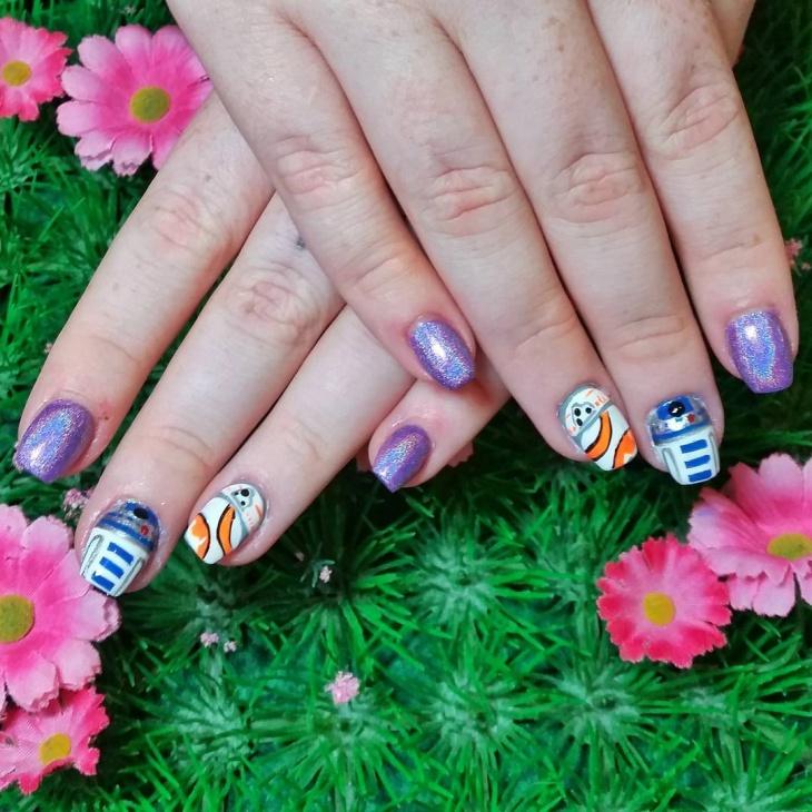 cute star wars nail art idea