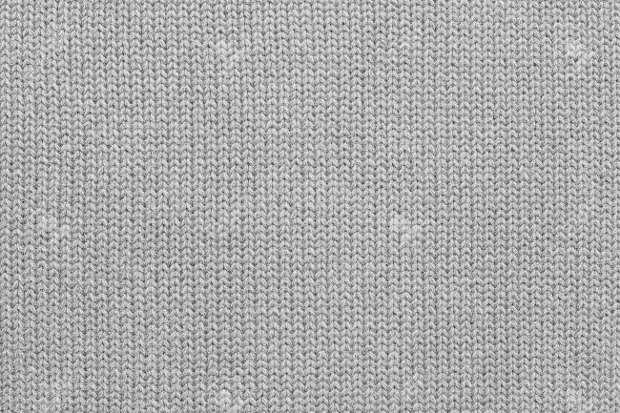Woolen Knitted Grey Fabric Texture