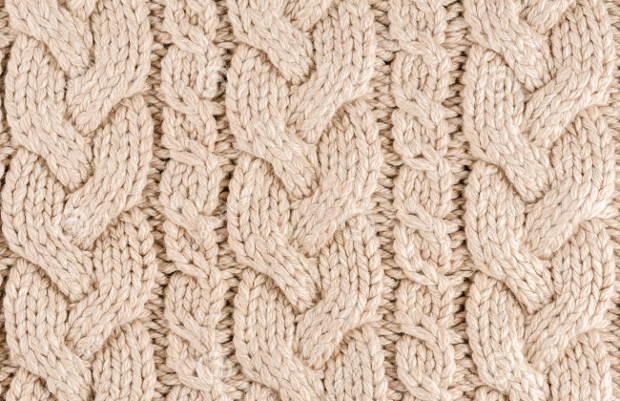 Knitted Woolen Fabric Texture