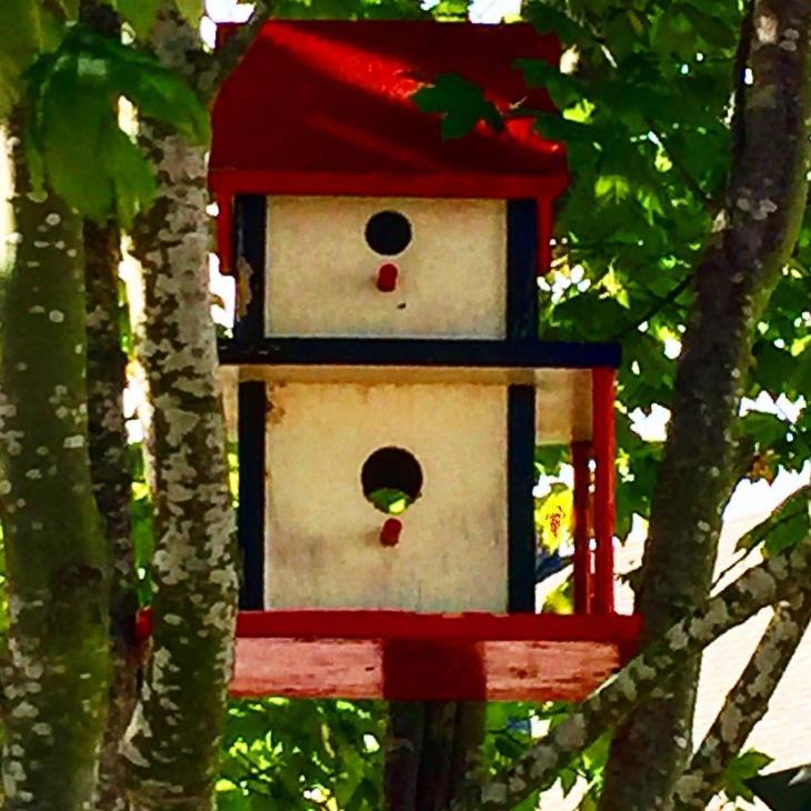 handmade rustic birdhouse