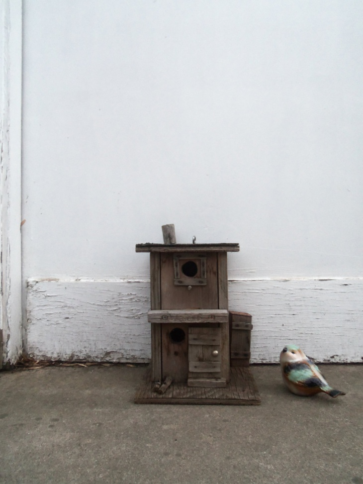 hardwood rustic birdhouse design