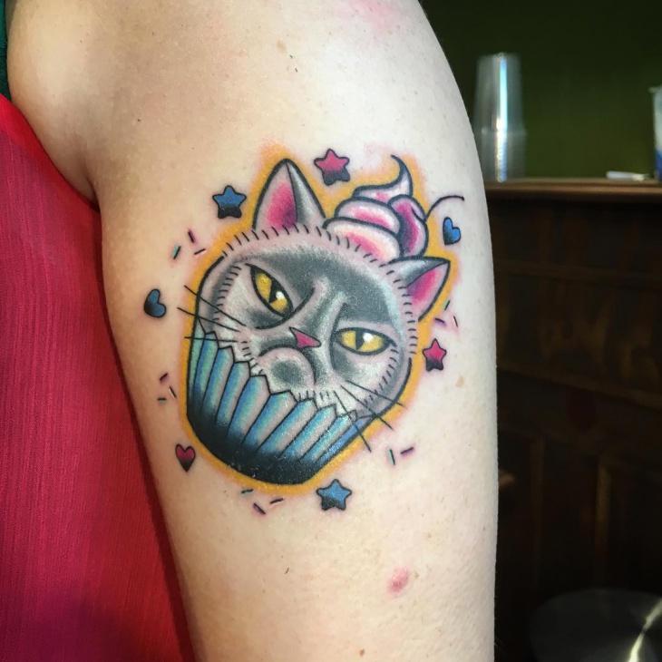 cat cupcake tattoo idea