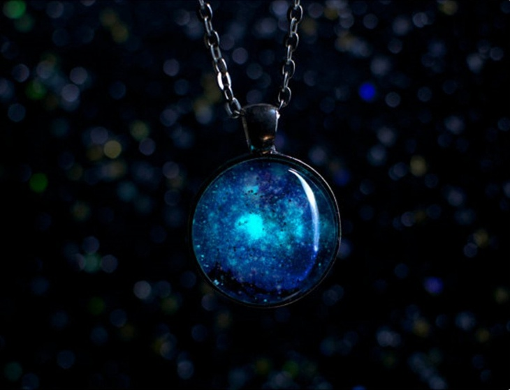 Dark Galaxy Necklace