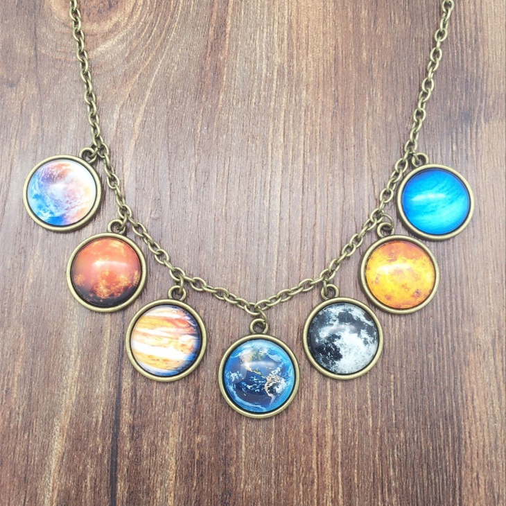 Galaxy Solar System Necklace