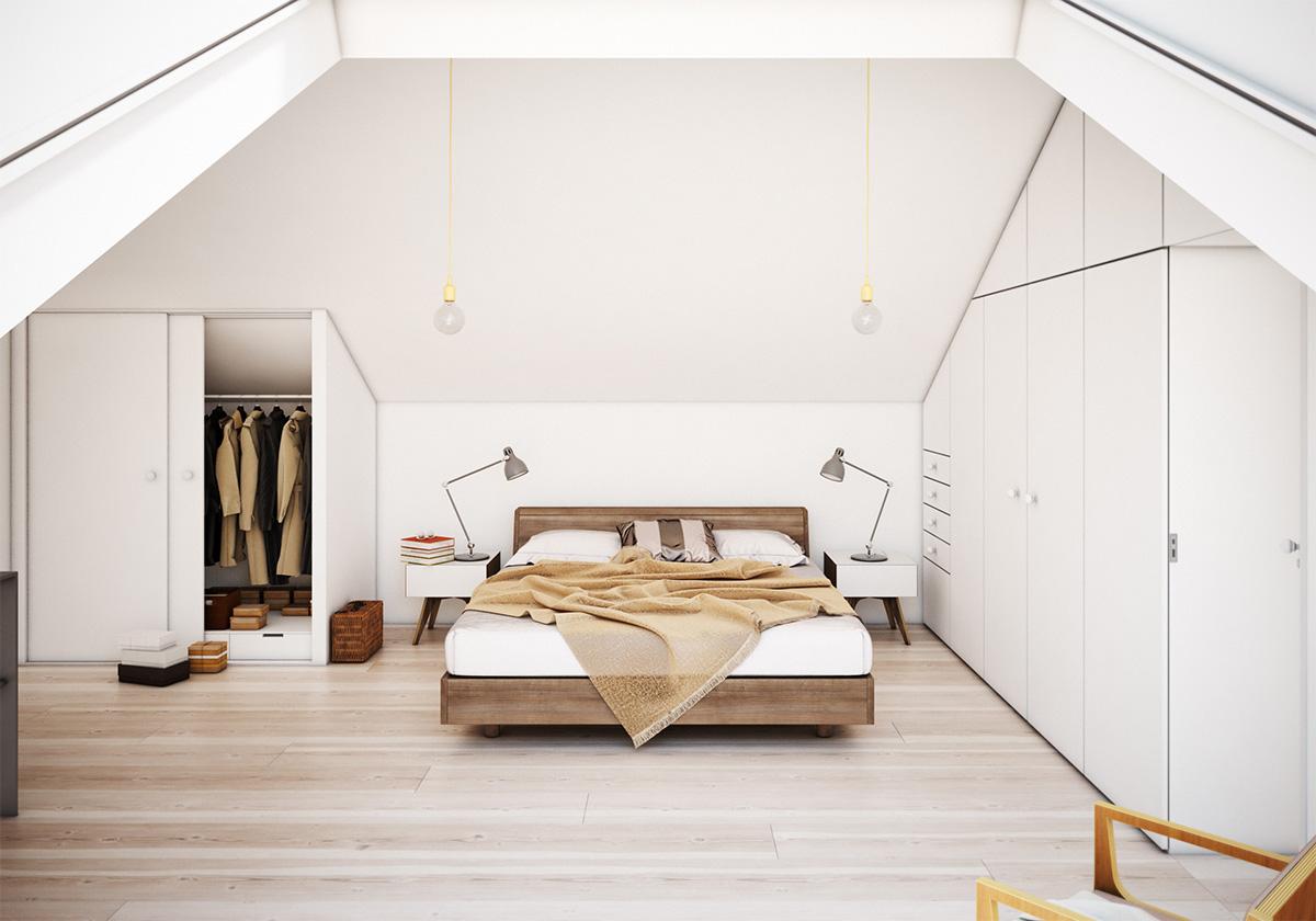 18 loft style bedroom designs ideas design trends. Black Bedroom Furniture Sets. Home Design Ideas