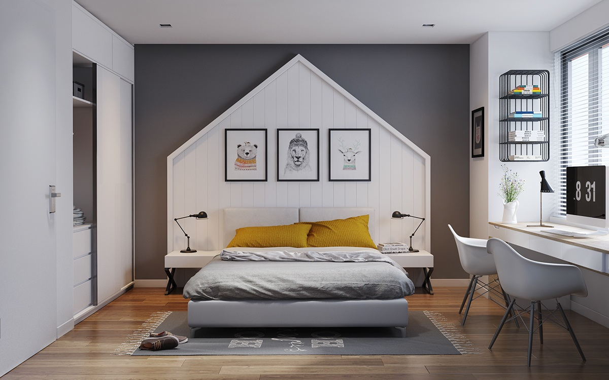 Contemporary Loft Style Bedroom