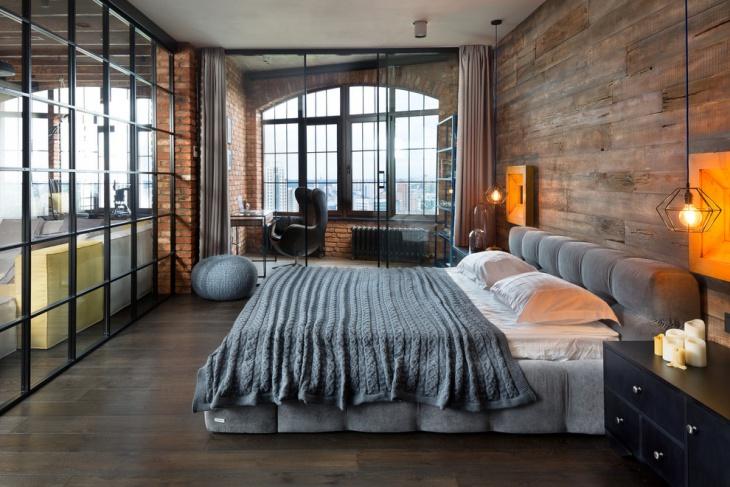 loft style apartment bedroom