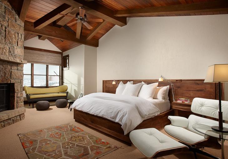 rustic loft bedroom design