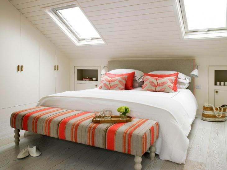 attractive loft bedroom design