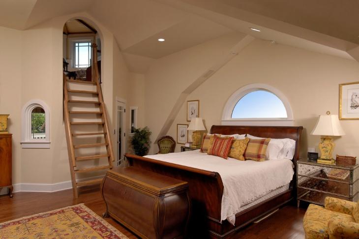 Vintage Loft Style Bedroom