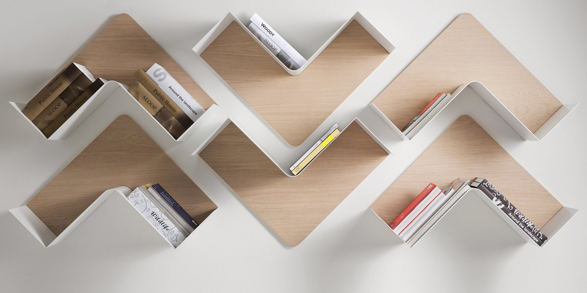 simple wall bookshelves design