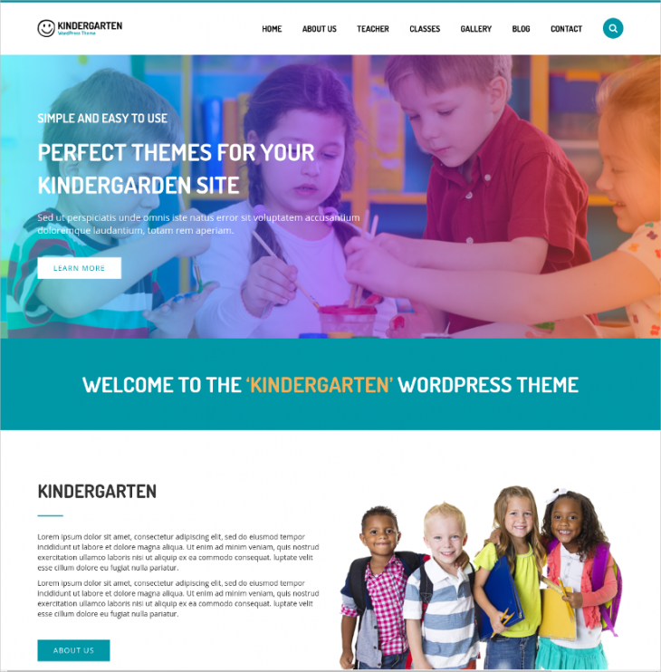 children school wordpress kindergarten theme