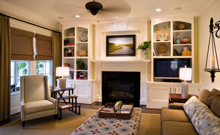 Fireplace Living Room Cupboard Design