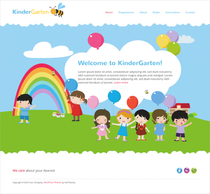 seo friendly kindergarten wordpress theme