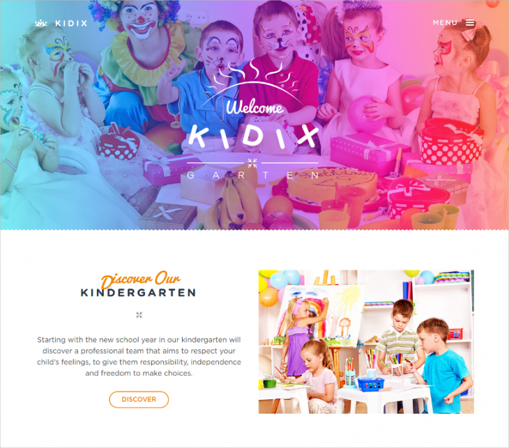 kindergarten wordpress theme with visual composer