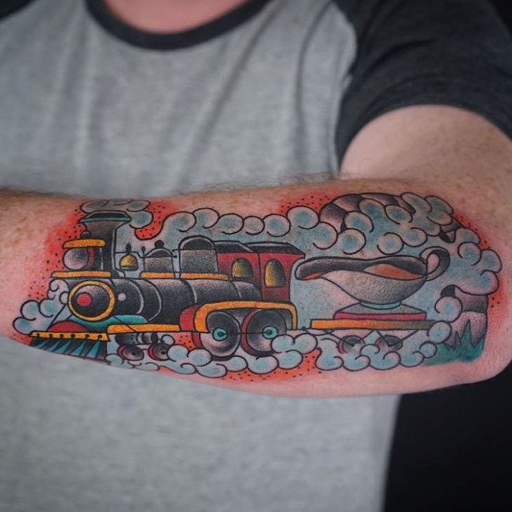Freight Train Tattoo