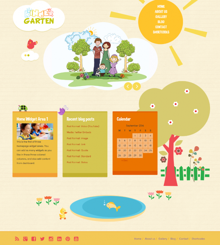 perfect kindergarten wordpress theme