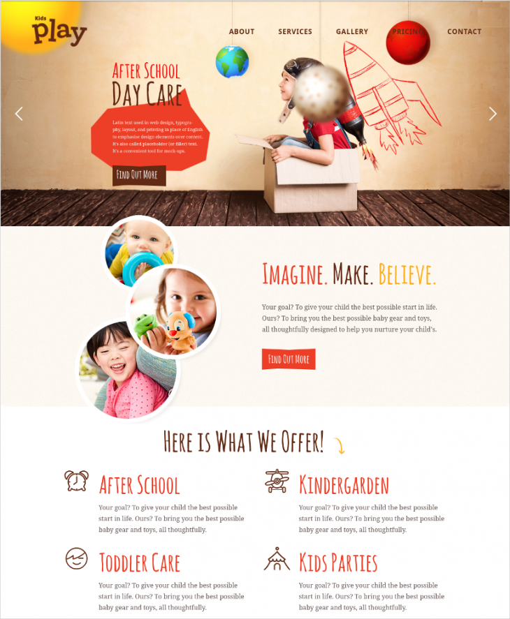 excellent kindergarten wp theme