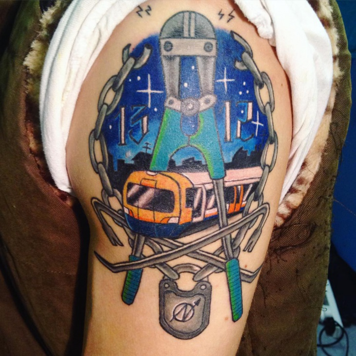 Blue Train Tattoo