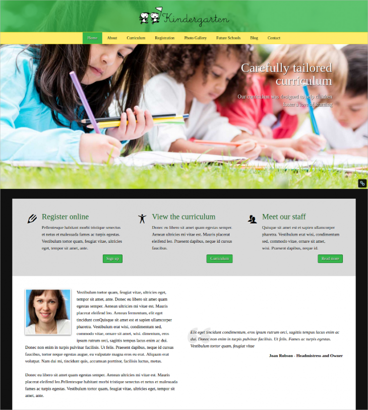 premium kindergarten wordpress theme
