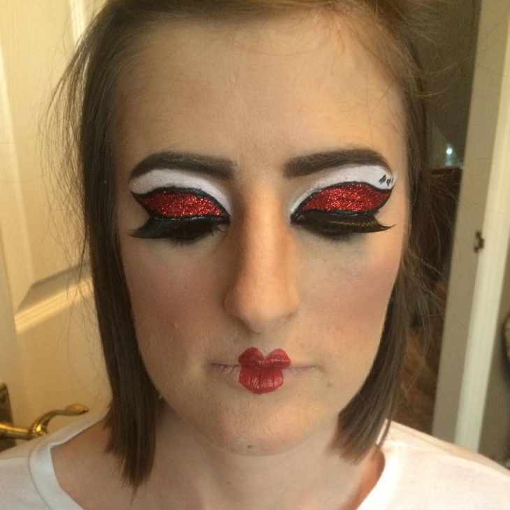 disney eye and lips makeup