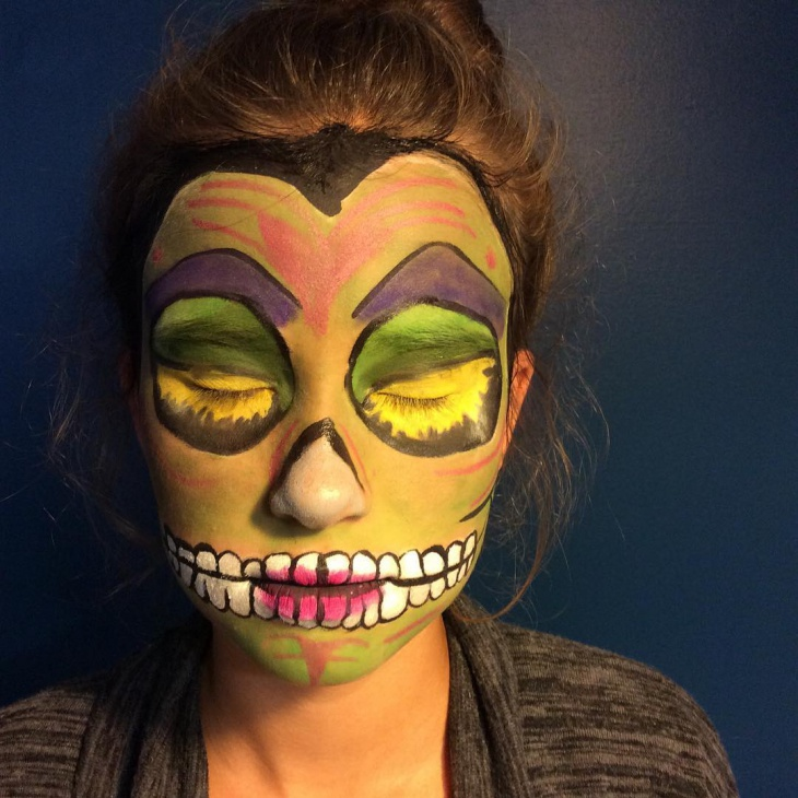 sugar skull disney makeup