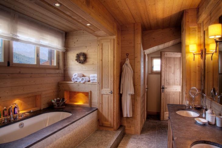 ski chalet bathroom