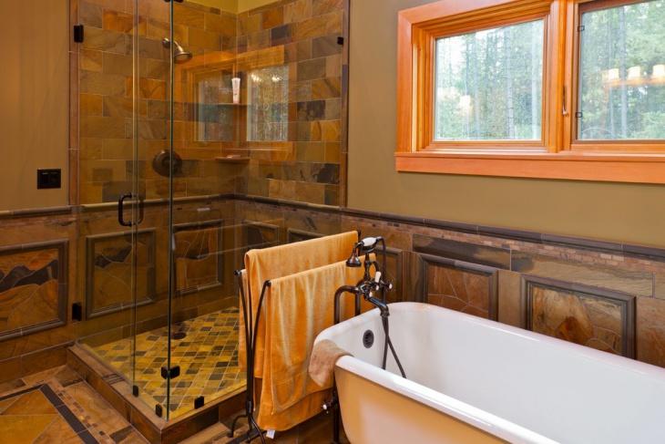 luxury chalet bathroom design