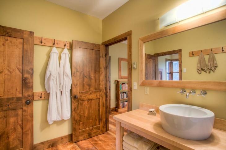traditional chalet bathroom