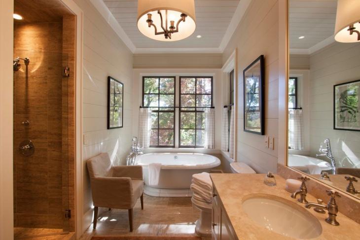 rustic chalet bathroom design
