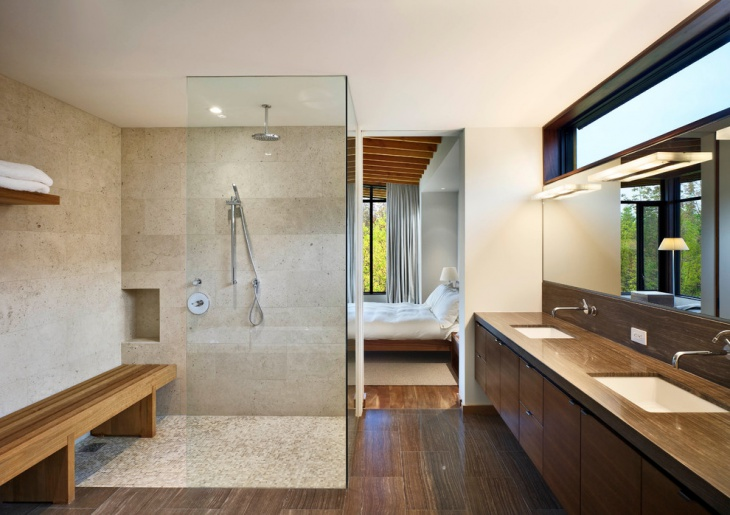 contemporary chalet bathroom idea