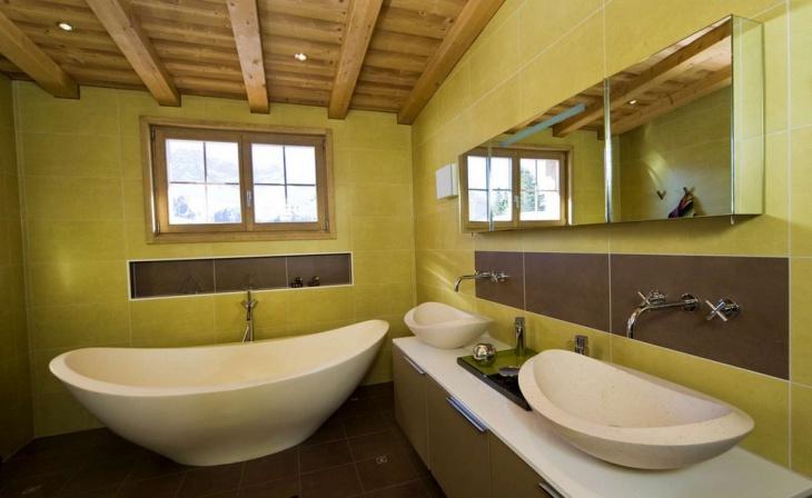 modern chalet bathroom