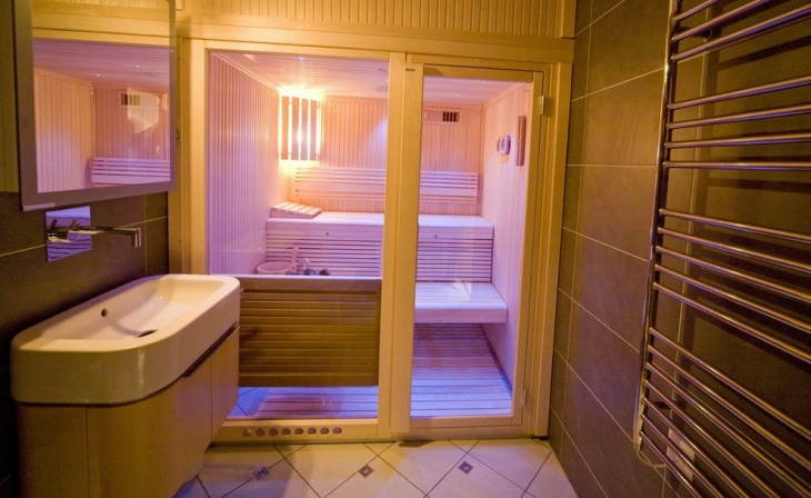 swiss alpine chalet bathroom