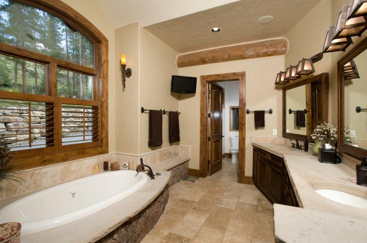 chalet bathroom idea