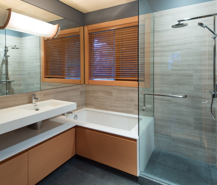 craftsman chalet bathroom
