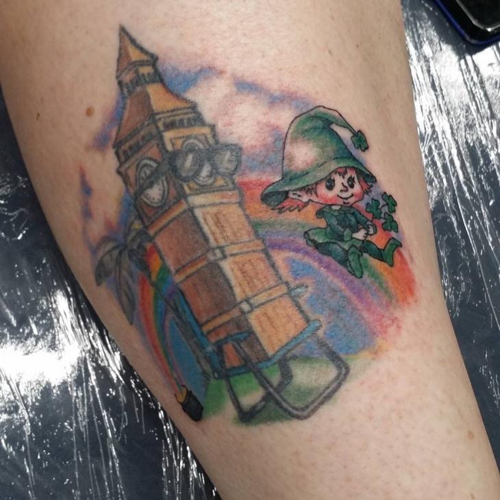 Baby Leprechaun Tattoo