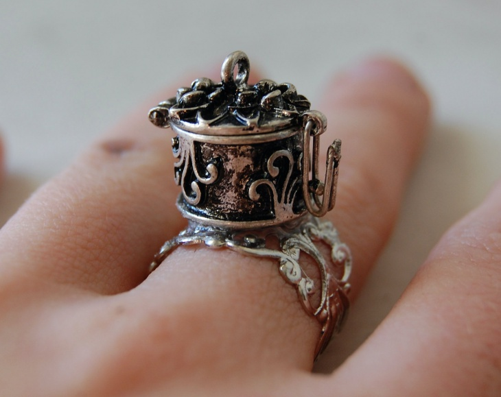 Locket Hinged Ring