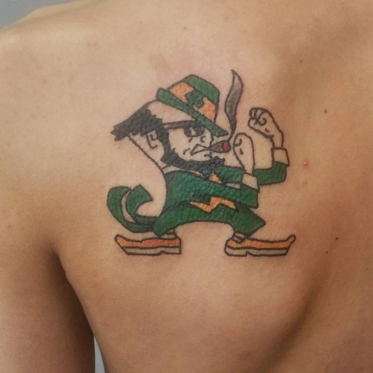 fighting leprechaun tattoo