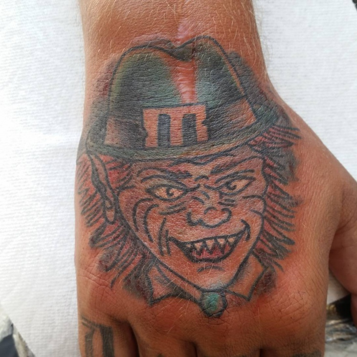 Leprechaun Tattoo on Palm