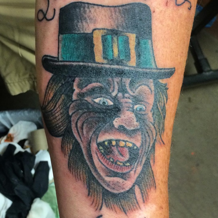 traditional leprechaun tattoo