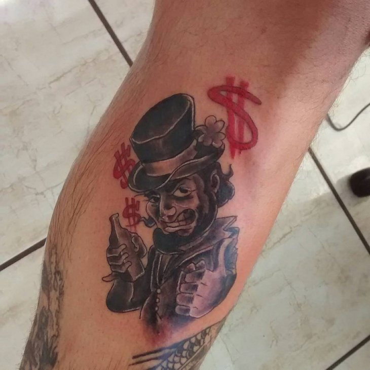 cool leprechaun tattoo