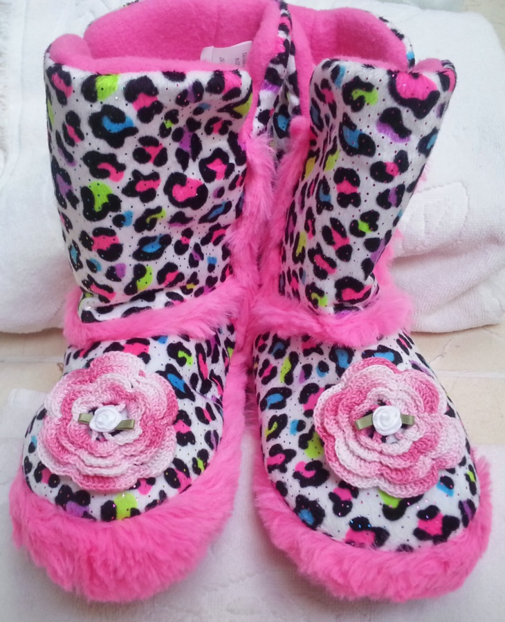 Animal Print Fur Shoes